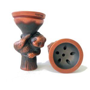 чаша для кальяна черный медведь медь